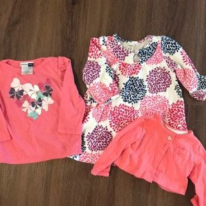 4for$10 Old Navy Dress and Pink Tops 6-12 months